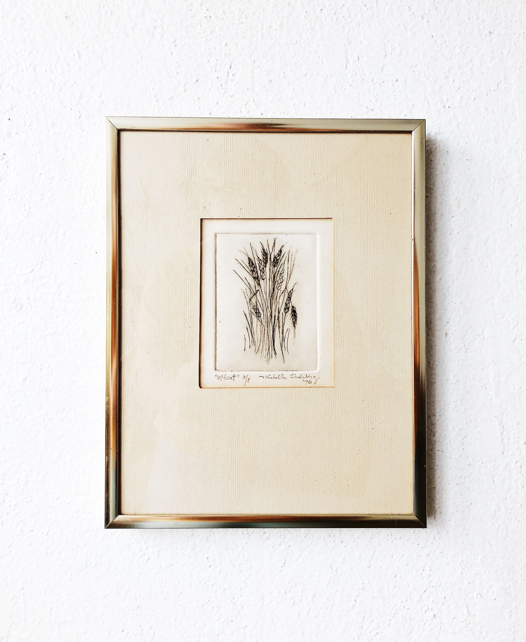 Vintage Original Framed Etching