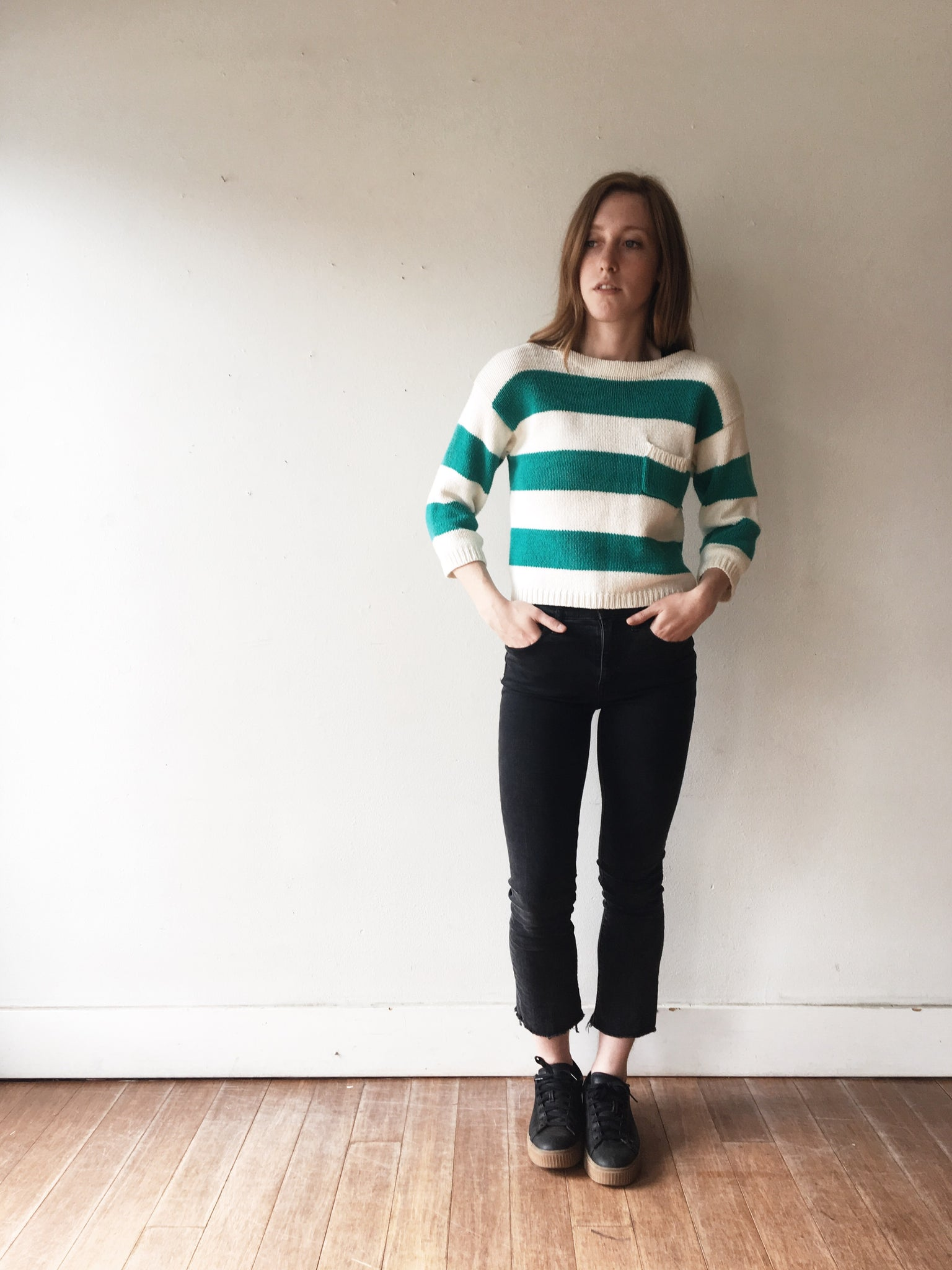 Vintage Cotton Cropped sweater