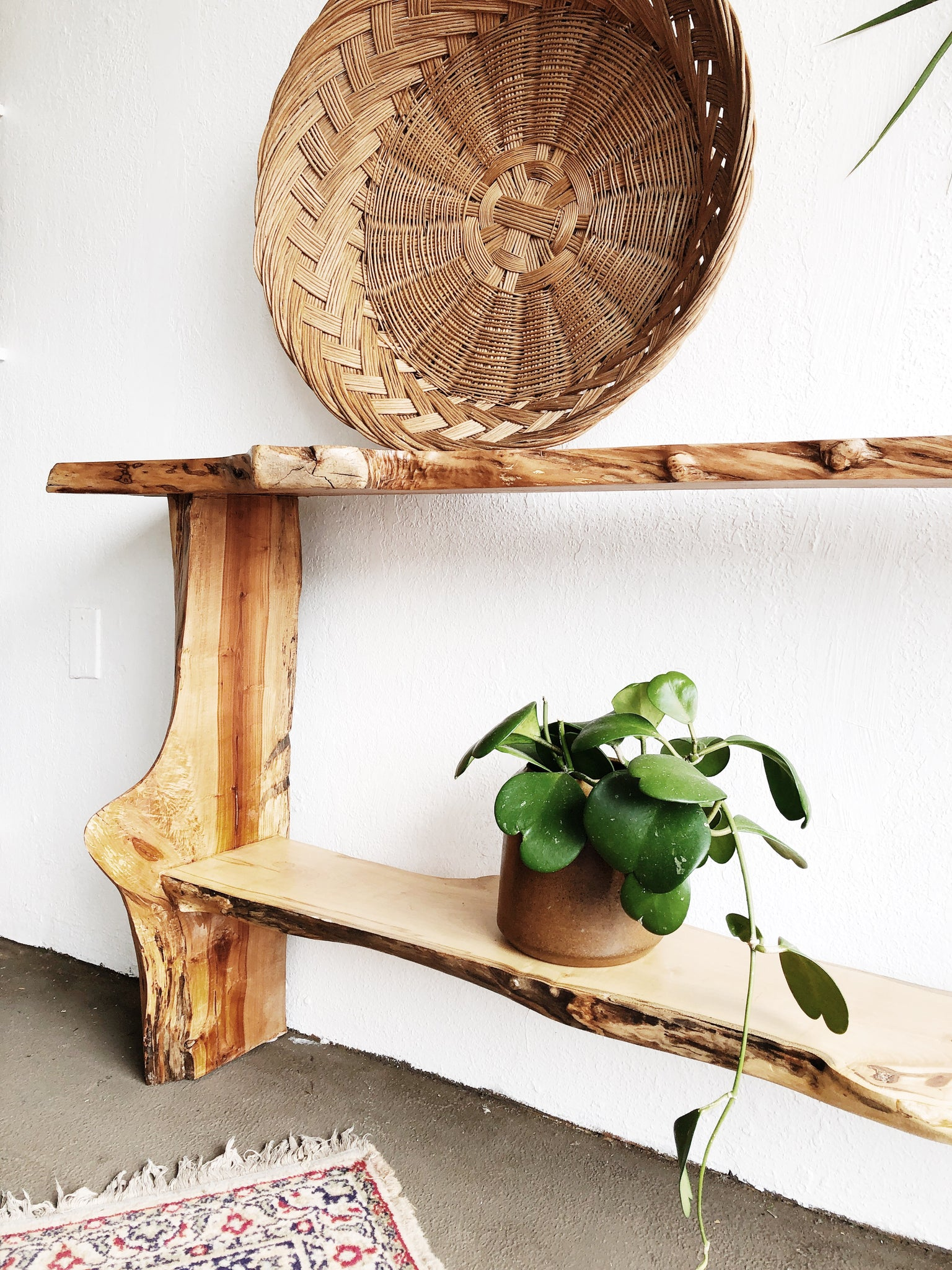 Handmade Live Edge Console Table
