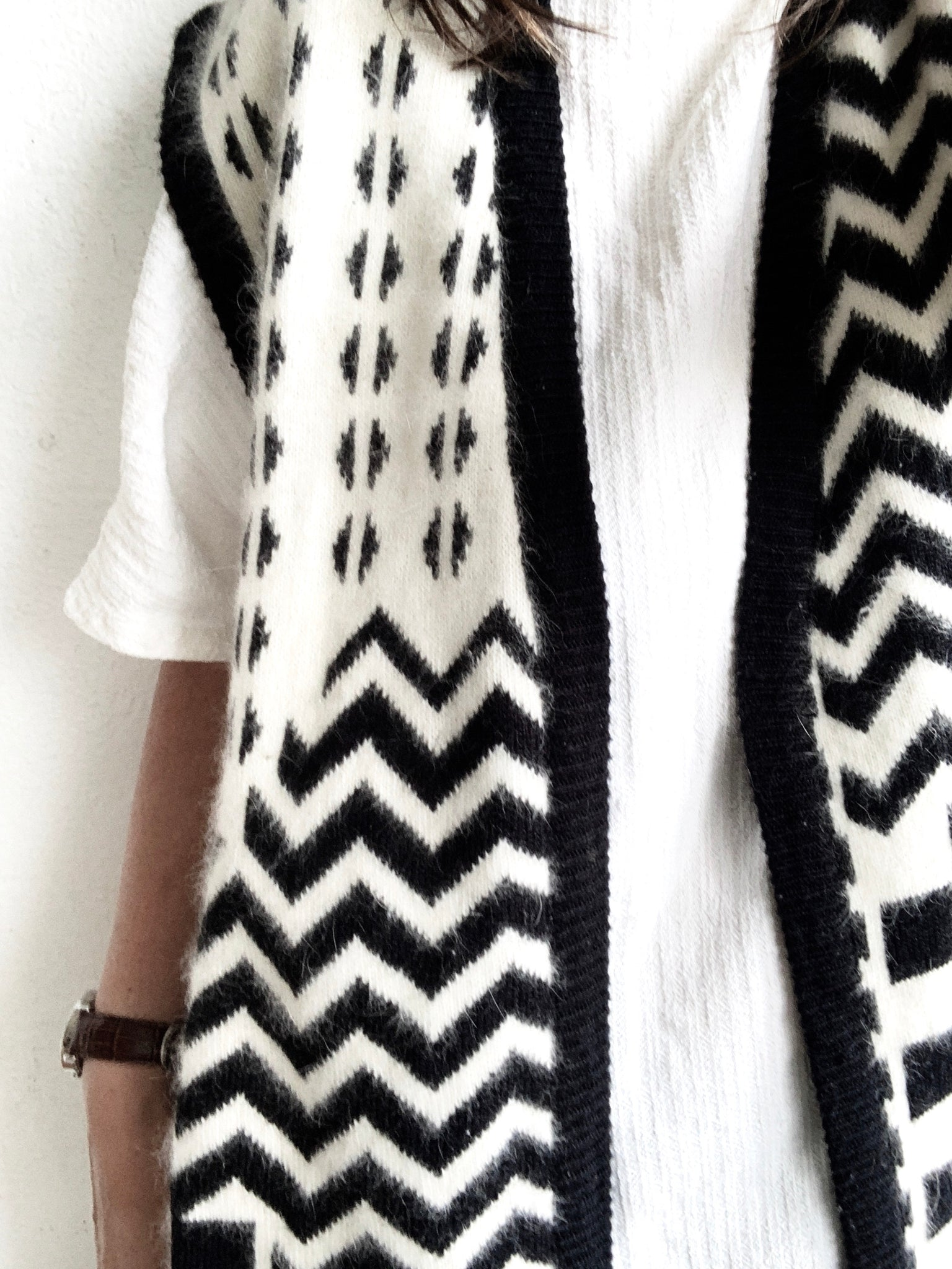 Vintage Long Angora Sweater Vest