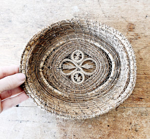 Antique Pine Needle Basket