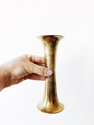 MCM Brass Candle Holder / Vase