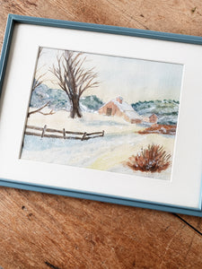 Vintage Watercolor Painting