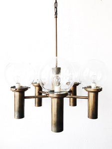MCM Robert Long Gunmetal Chandelier