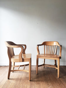 Boling Chair Company Maple Banker Chairs