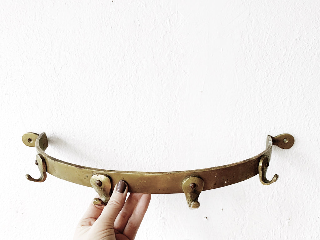 Aged Brass Pot Rack