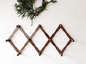 Vintage Oversized Accordion Rack