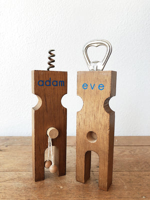 Vintage Adam and Eve Opener Set