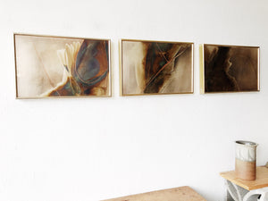 John West Etching Triptych 'Oasis'