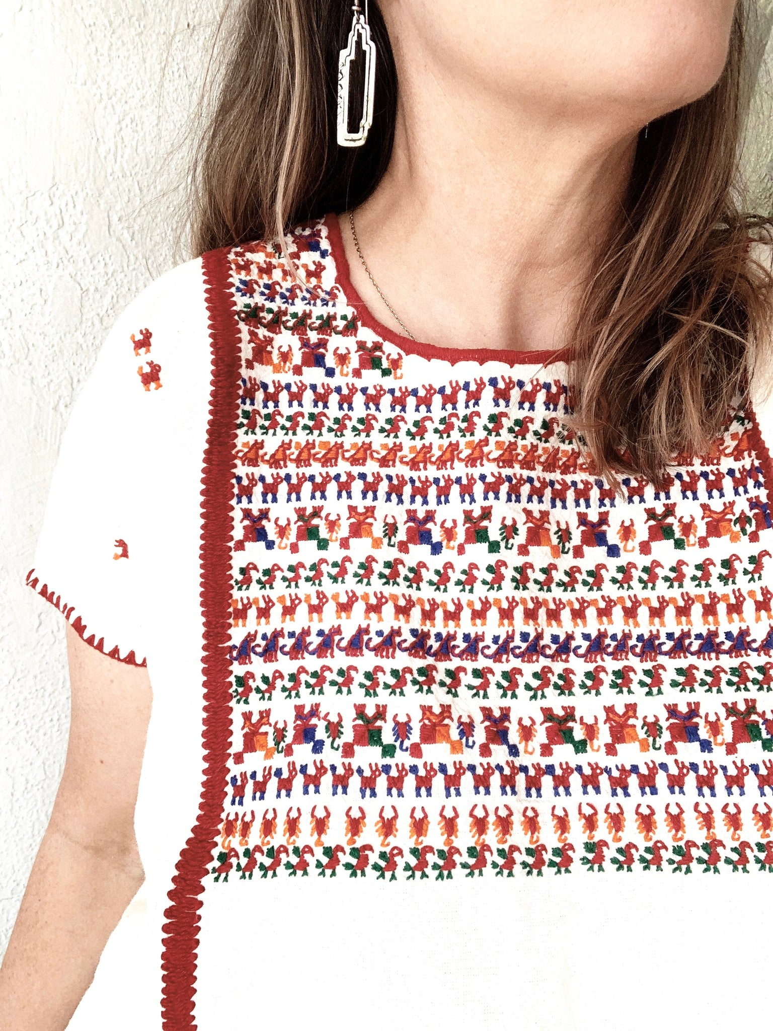 Vintage Embroidered Cotton Tunic