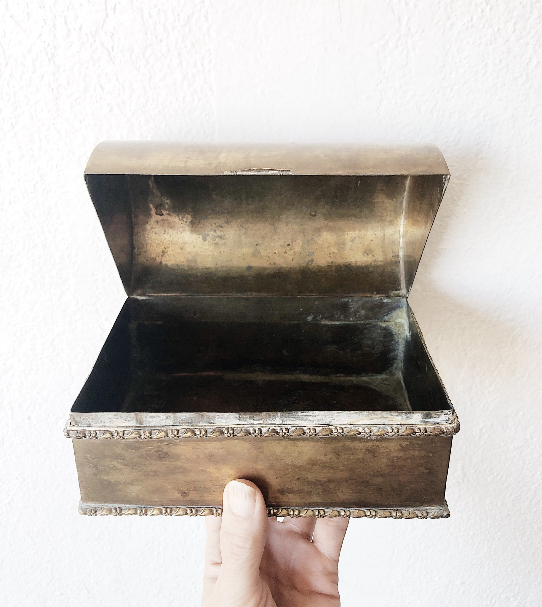 Vintage Brass Treasure Box