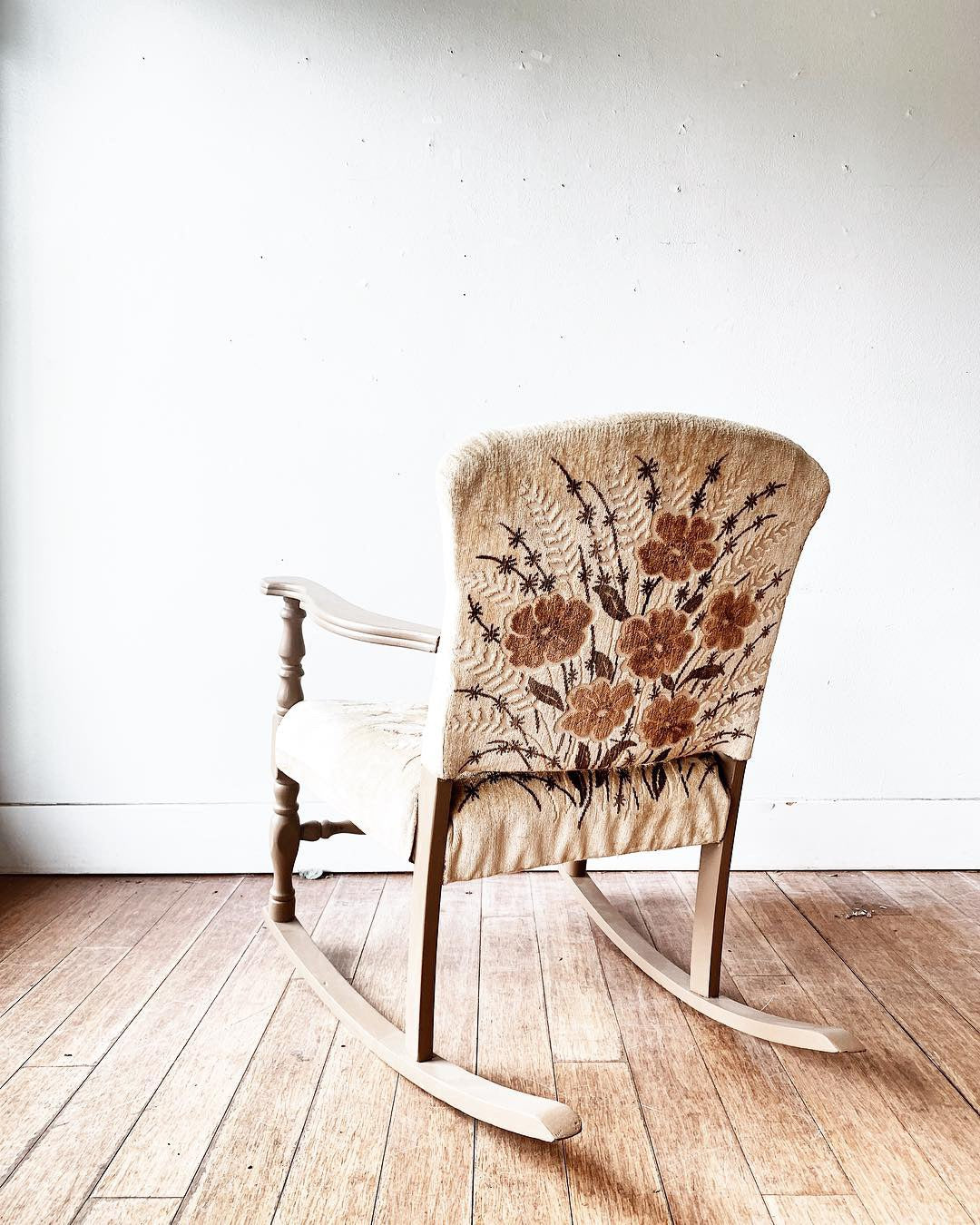 Antique Upholstered Rocker