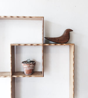 Vintage Wood Double Shelf