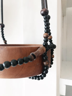 Vintage Wood Beaded Hanger