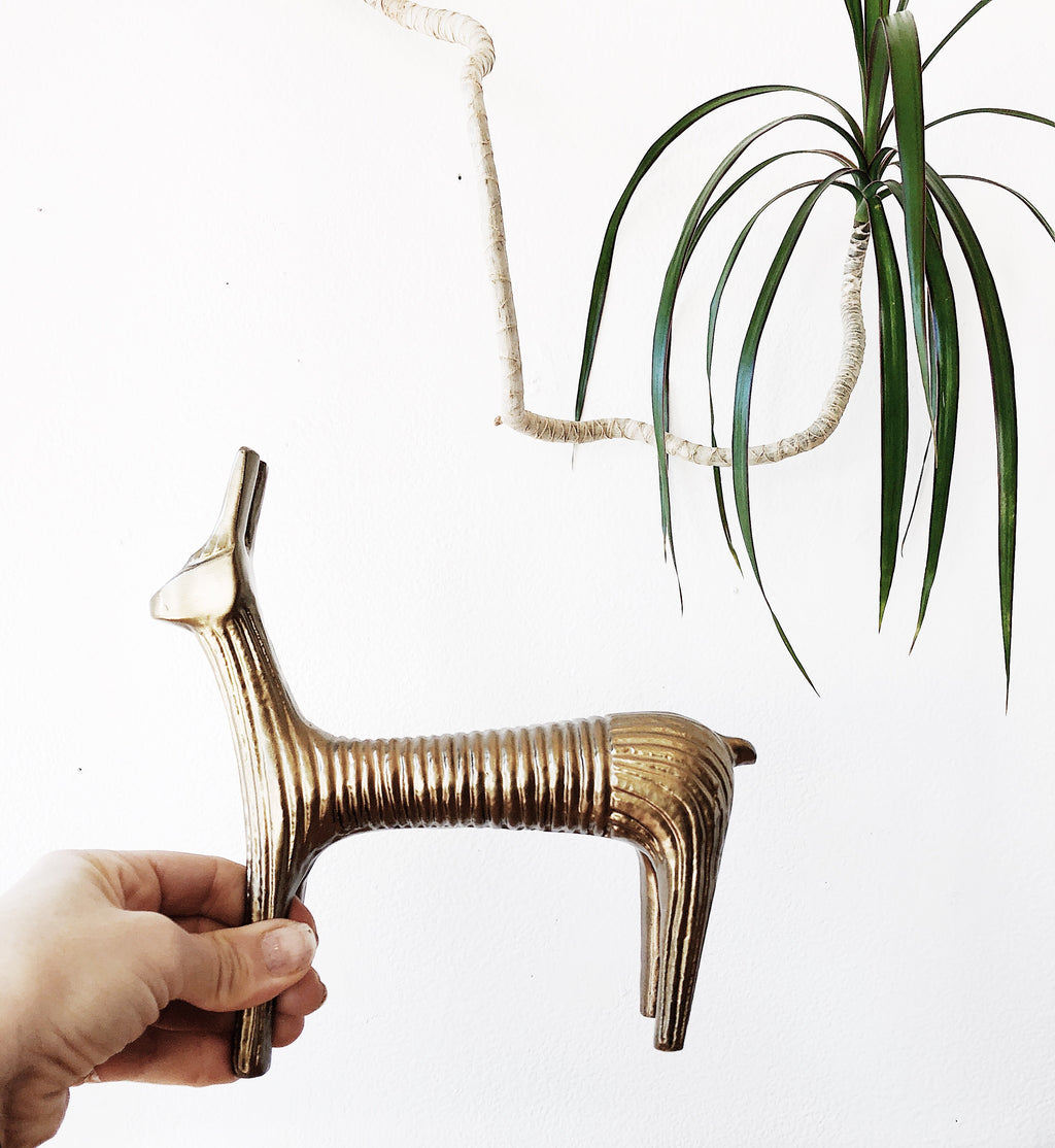 Vintage Mid Century Brass Animal