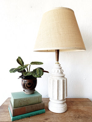 Mid Century Ceramic Lamp with Shade