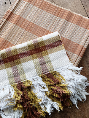 Woven Cotton Placemats Set of Four