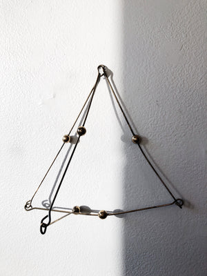 Vintage Brass Ball and Chain Sculpture