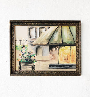 Original Watercolor Greenhouse Painting