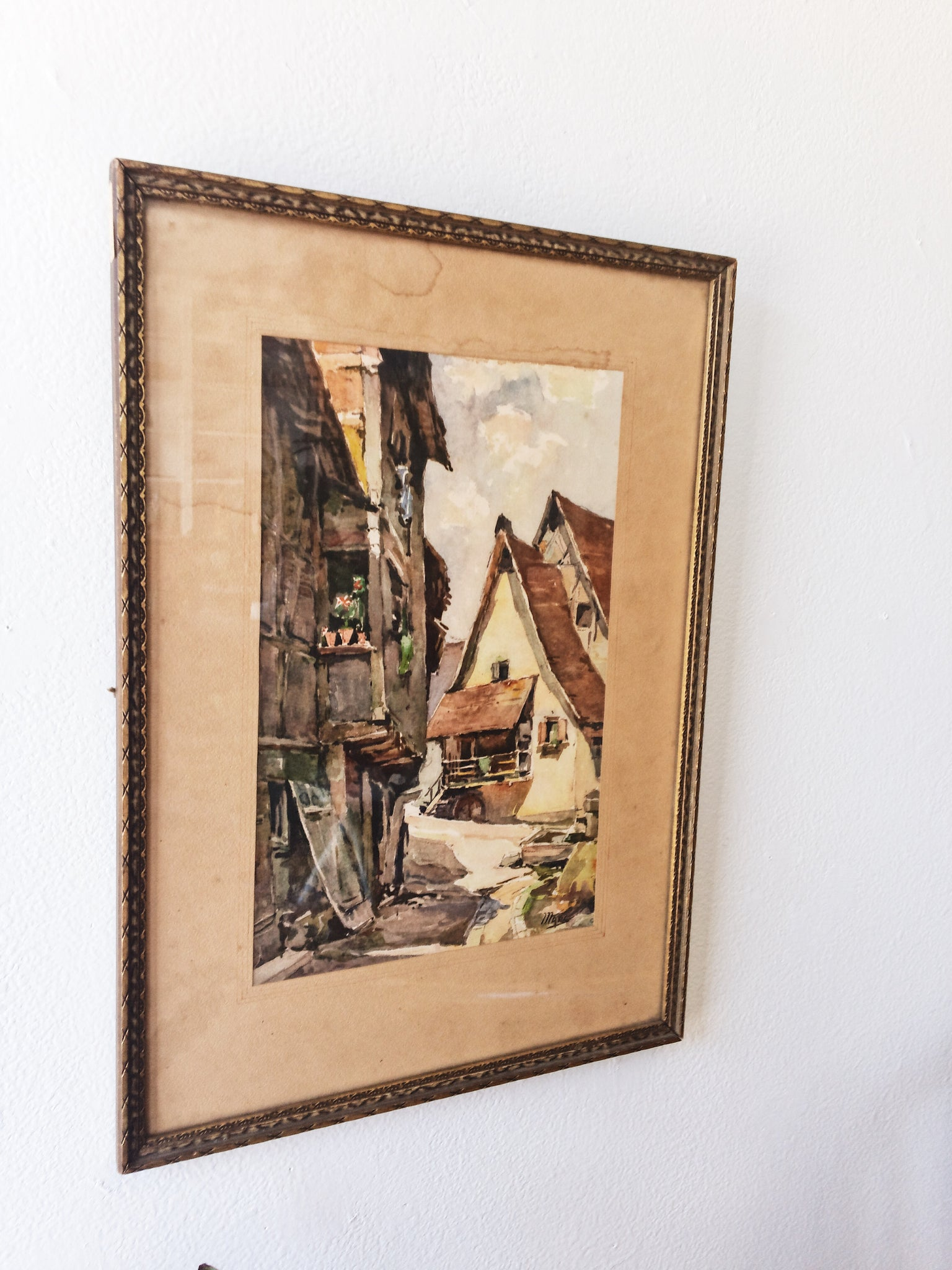 Antique Watercolor Painting