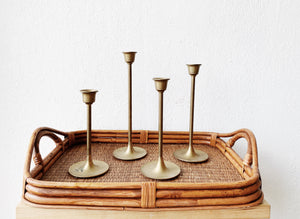 Set of Vintage Brass Candlestick Holders