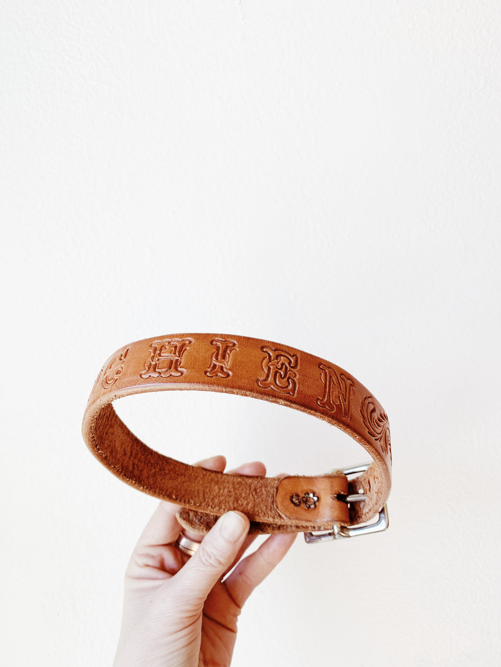 Tooled Leather Dog Collar