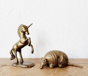 Vintage Brass Unicorn