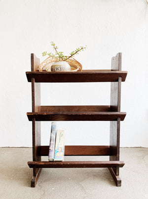 Vintage Dark Wood Book Shelf