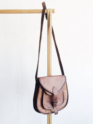 Vintage Leather Cross Body Bag
