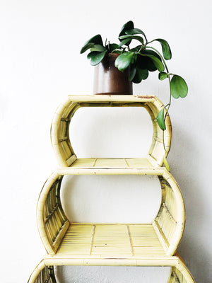 Vintage Bamboo Nesting Tables