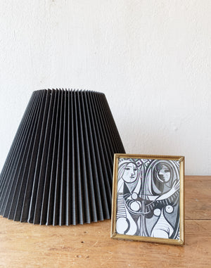 RESERVED Vintage Black Pleated Shade