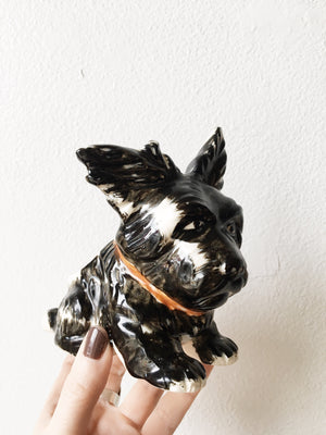 Vintage Ceramic Scottie Dog Planter