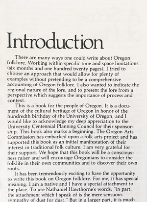 Oregon Folklore Book