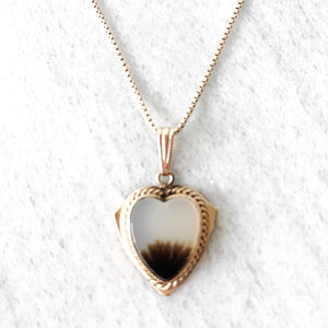 1940's Agate Heart Necklace