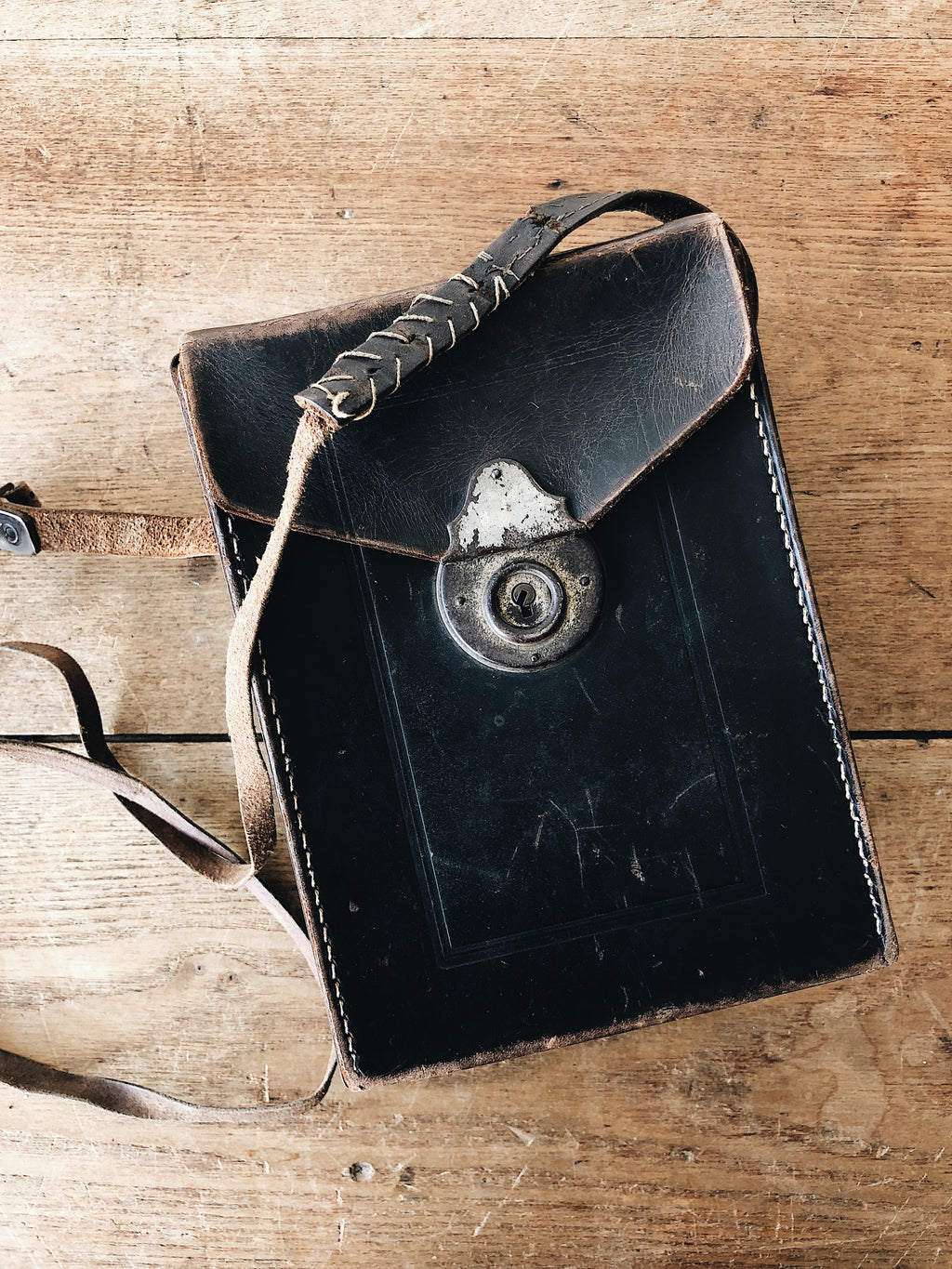 Antique Leather Camera Bag