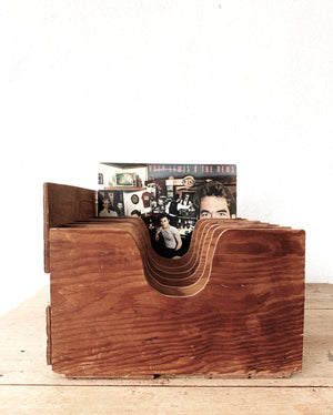 Vintage Handmade Divided Wood Organizer