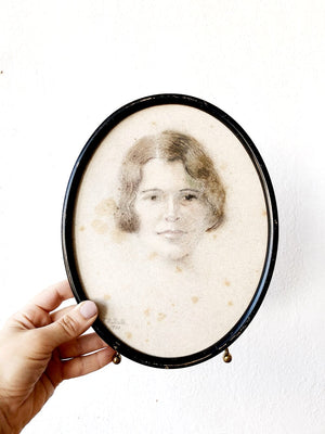 Antique Hand Drawn Portrait