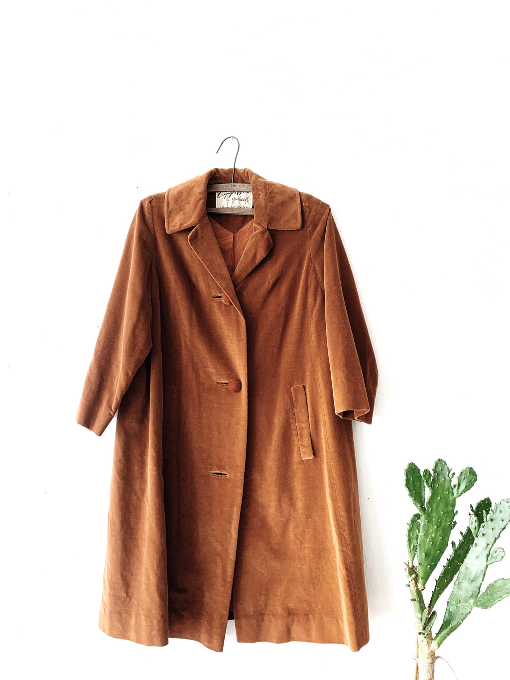 Vintage Copper Velvet Duster