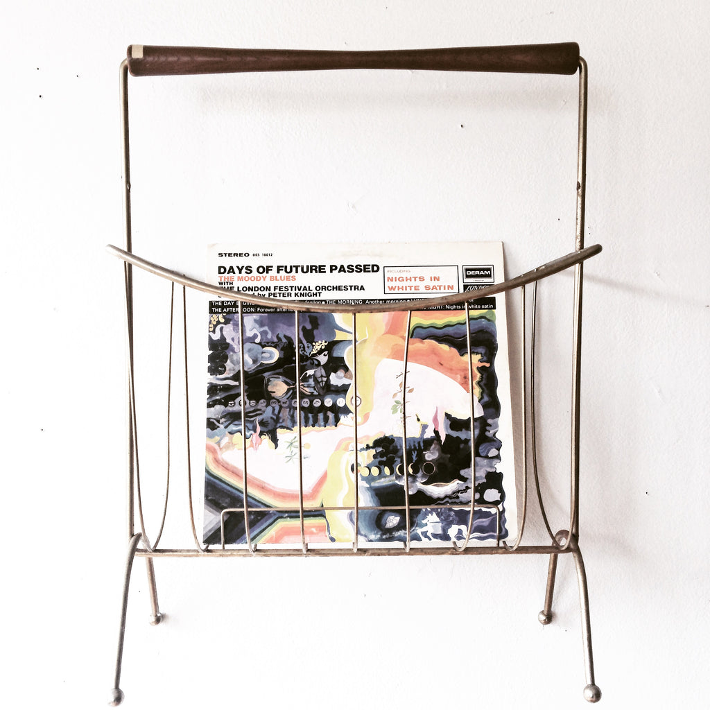Mid Century Metal and Wood Rack