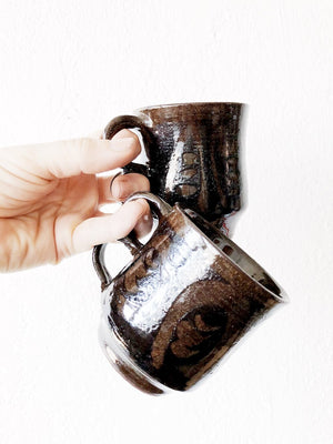 Pair of Handmade Trigger Handle Mugs