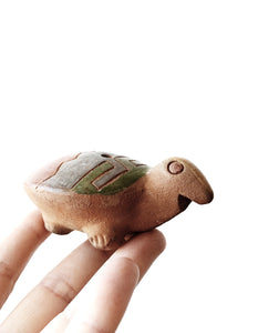 Vintage Clay Turtle Whistle
