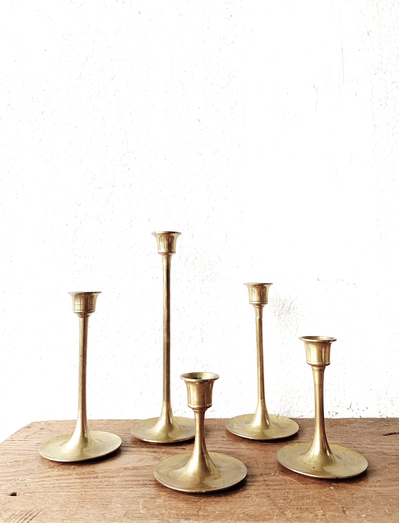 Vintage Brass Candle Holder Collection