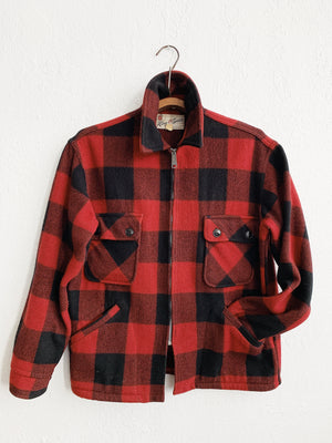 Vintage Wool Buffalo Plaid Jacket