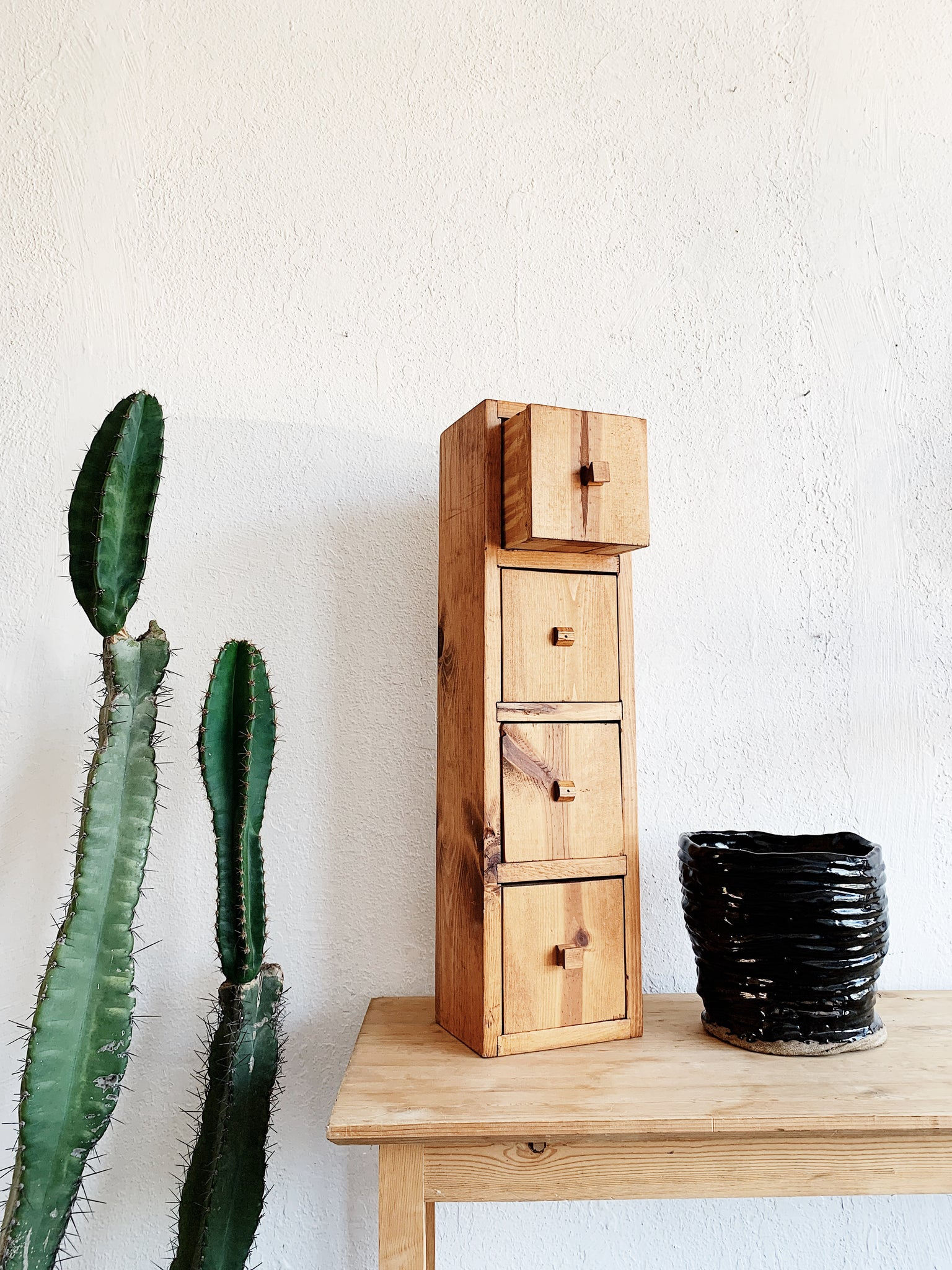 Handmade Wood Cubby Drawers