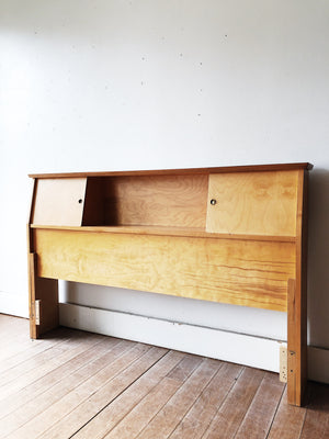 Vintage Handmade Ply Headboard with Storage