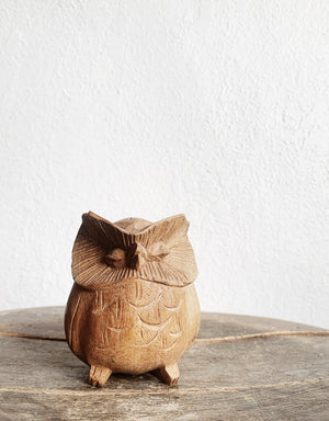 Vintage Carved Wood Owl