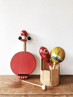 Wooden Music Instrument Set