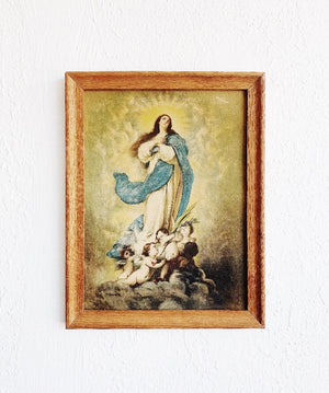Antique Framed Mary Litho