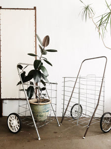 Vintage Wire Shopping Cart