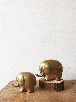Vintage Brass Elephants